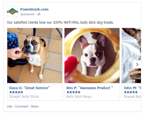 pawstruck user generated content social media campaign
