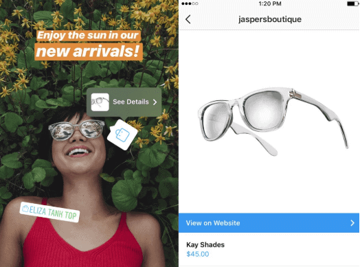 shoppable tags for instagram stories 2019