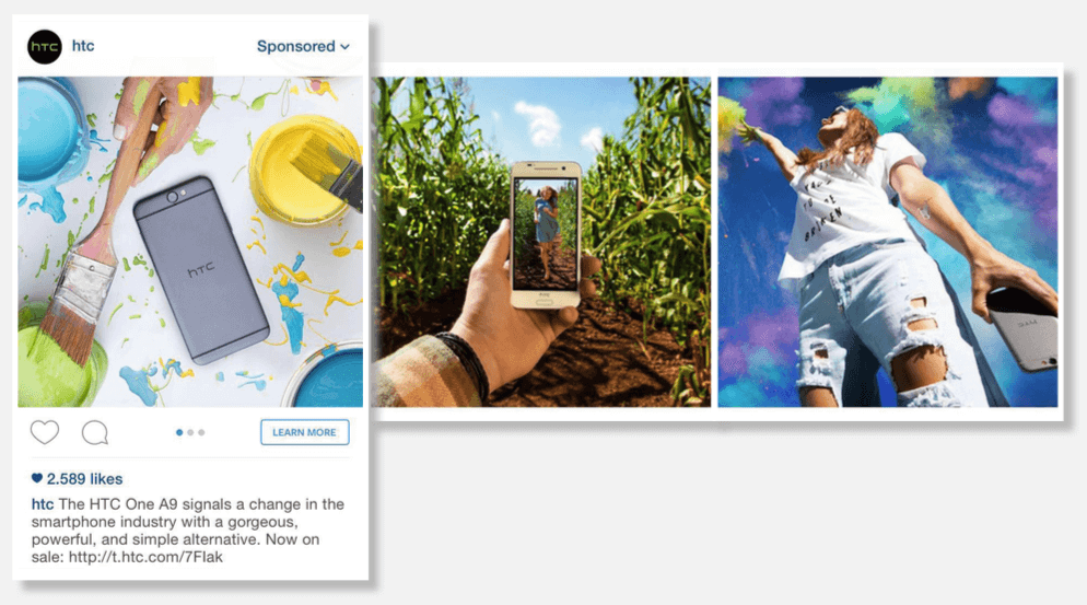 instagram carousel ad example brand awareness